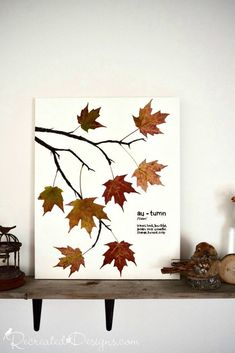 Make stunning DIY wall art for fall on a budget with this craft project idea and tutorial. Fall home decor idea. Learn how to design this simple, budget friendly wall art to decorate your home for fall with this easy craft tutorial from Hometalk. Diy Home Decor On A Budget, Fall Home Decor, Autumn Art, Autumn Home, Easy Fall Wreaths, Fall Crafts For Kids, Fall Leaves Crafts, Summer Crafts, Art Mural