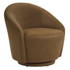 Petite Swivel Accent Chair - Color Brown Dimensions 30W x 33D x 32H in. (Chair) Feature Swivel Frame Material Hardwood Material Microsuede Pattern Solid Style Modern / Contemporary Weight 40 lbs $925