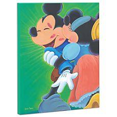 Minnie and Mickey Mouse Giclée on Canvas U$494.50