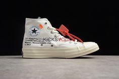 9b14b9a0ffd3 Custom Off-White x Converse Chuck Taylor All Star 70 Canvas Black White -