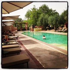 summer (june) by the pool @Hotel Les Deux Tours Marrakech by Helen Ellery