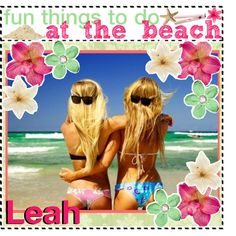 """- fun things to do at the beach ! ♥"" by the-polyvore-tips-xo on Polyvore"