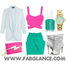 """""""#OOTD: Miami Vice"""" by fabglance on Polyvore"""