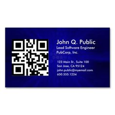 Qr Code Business Card Template Zazzle