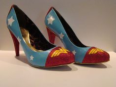 $40 WONDER WOMAN SHOES!!!!!!!!!