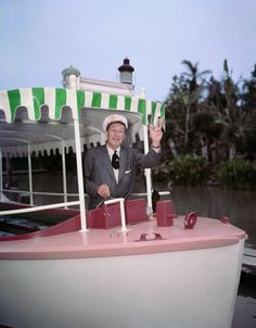Earlier this year I shared some rare pictures of Walt Disney at the Jungle Cruise at Disneyland park. There was such a great response that I set out to find and share even more photography of Walt at one of his favorite original Disneyland park attractions, the world-famous Jungle Cruise.