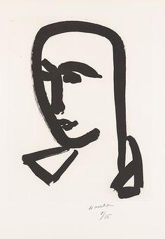 """Henri Matisse """"Young Student"""" 1952 Aquatint on paper"""