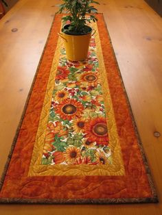 quilted table runners | Sunflowers Quilted Table Runner | PatchworkMountain - Quilts on ...
