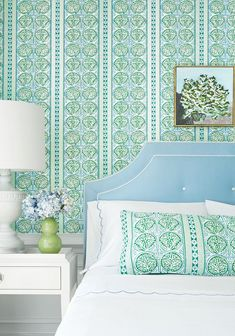 House of Turquoise: Trade Routes Collection from Thibaut Interior Design Blogs, Interior Design Inspiration, House Of Turquoise, Do It Yourself Design, Fabric Houses, Suites, Guest Bedrooms, Blue Bedrooms, Guest Room