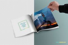 free square mag mockup to display your editorial designs