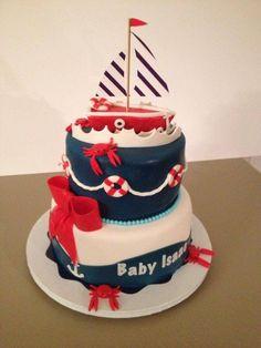 Delightful Nautical Baby Shower Cake So Cute!