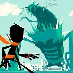 Artes de Randy Cunningham, do Disney XD Kevin Dart, Randy Cunningham Ninja Total, American Dragon, Disney Channel Shows, Superhero Design, Disney Xd, Danny Phantom, Art Studies, Dreamworks