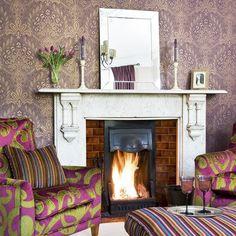 Bunte und glamourös Wohnzimmer Wohnideen Living Ideas Interiors Decoration
