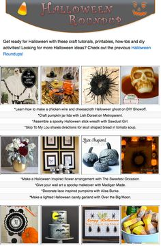 16 free diy Halloween craft tutorials, diy projects, crafty recipes and printables!