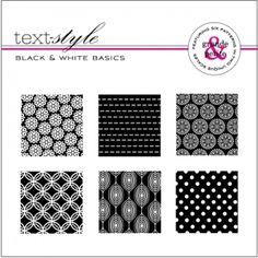 "Black & White Basics Patterned Paper 8""X8"" (36 sheets)"