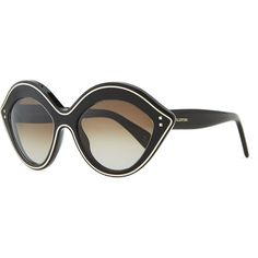 e2cf31fd149 Chunky Metal-Edged Cat-Eye Sunglasses