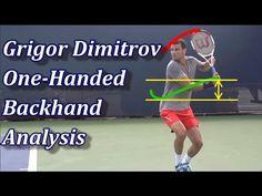 Grigor Dimitrov& One Handed Backhand Technique Tennis Rules, Tennis Gear, Tennis Tips, Tennis Serve, Play Tennis, Tennis Techniques, Tennis Pictures, Tennis Equipment, Tennis Workout
