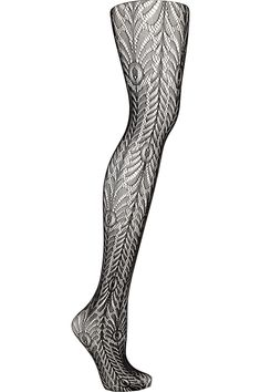 Wolford - Peacock patterned tights. I love patterned tights, and this is such a pretty design!