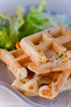 foodblog: paules ki(t)chen » Blog Archiv » • Herzhafte Schinken-Cheddar-Waffeln