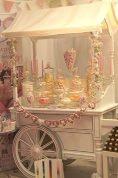 Sweet-Table for my Wedding 😍 Lolly Buffet, Candy Buffet Tables, Dessert Buffet, Candy Table, Dessert Bars, Dessert Tables, Sweet Carts, Candy Bar Wedding, Candy Cart