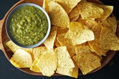 For all the tomatillos still in my freezer from 2 summers ago: Cooked Green Salsa (Salsa Verde) recipe from Food52