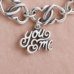 "New ""You & Me"" Charm on the Double Heart Link Bracelet #JamesAvery #Love #HeartBracelet ""MUST HAVE"""