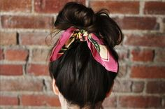 Up-do with a scarf (pic. courtesy of abeautifulmess.com)