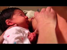 How to Get a Newborn to Latch - YouTube