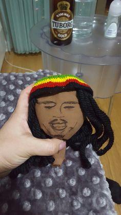 #bobmarley #handmade #doll Bob Marley, Crochet Necklace, Dolls, Handmade, Bob Morley, Hand Made, Crochet Collar, Puppet, Doll