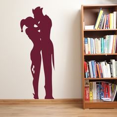 Harley Quinn and The Joker Wall Sticker by StickerStudio: Amazon.co.uk: Kitchen & Home