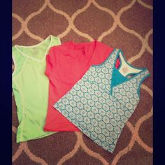 🌸🌸BUNDLE🌸🌸. Workout shirts🌼ON SALE 💐 Barely used nice workout shirt bundle.  Medium and large. Fitted racer- back style Danskin Tops