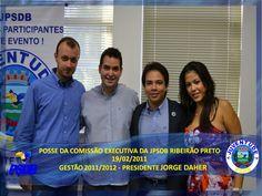 Posse da nova comissão Executiva do PSDB Ribeirão Preto. Jorge Daher é o novo Presidente da Juventude de Ribeirão Preto. FOTO Facebook: Edgar Ájax Filho, André Queiroz, Jorge Daher e Carol Stela.