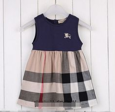 FREE SHIPPING Burberry Plaid Girls Dress, 4 colors, sizes: 2T-6 years | EmeseBoutique - Children's on ArtFire
