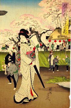 toyohara chikanobu 墨提の春