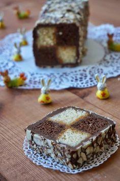 Caramel-Chocolate «Battenberg».