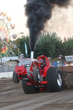 Smoke stack tractor pull #stancofair