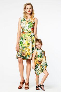 Meisjesjurk met bloemenprint Mintgroen