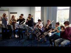 NYO 2012 trombones show their skills. Scales: boring? Think again!