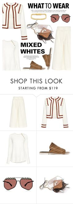 """""""What to wear: Mixed Whites!"""" by ifchic ❤ liked on Polyvore featuring Apiece Apart, Ganni, 10 Crosby Derek Lam, TIBI, Grey Ant, Mohzy, MIANSAI and contemporary"""