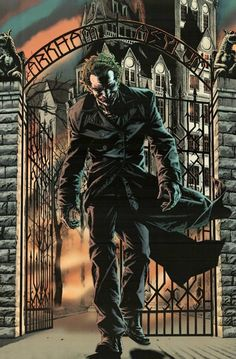 A great poster of The Joker! Batman's arch-enemy is on the loose from Arkham Asylum. Fantastic DC Comics art by Lee Bermejo. Check out the rest of our excellent selection of Batman posters! Joker Comic, Le Joker Batman, Joker Arkham, Joker And Harley Quinn, Superman, Batman Arkham Asylum, Joker Pics, Joker Images, Batman Stuff