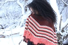 Slowly bringing the colors of #Spring back into rotation. Come check out this #Unique #Handmade #Shawl.