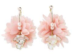 My Melody Hoop Pierced Earrings Chiffon SANRIO JAPAN
