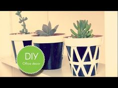 DIY - Office decor Office Decor, Planter Pots, Blog, Diy, Do It Yourself, Bricolage, Homemade, Fai Da Te, Diys