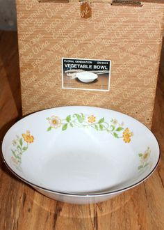 FLORAL GENERATION Round Vegetable bowl. Made in Japan by CaliforniaPicks on Etsy