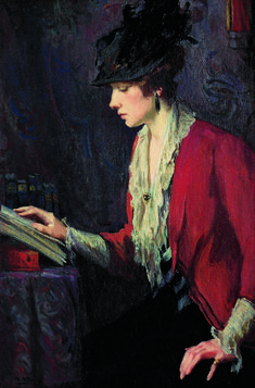 Lady in a Red Jacket (c.1922). Mary Bradish Titcomb (American, 1858-1927). Oil on canvas. Landis Collection. Titcomb studied at Massachusetts Normal Art School and the Boston Museum School with Edmund...