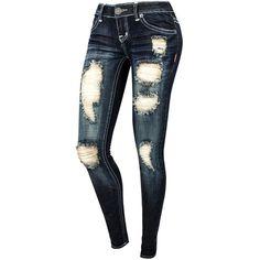 Destructed Skinny Jeans ($25) via Polyvore