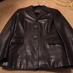 Gianni Versace Black Leather Jacket --Nice!