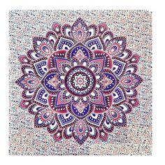 Buddhist Lotus Mandala Tapestry Wall Hanging Boho Bedspread Throw Dorm M | eBay