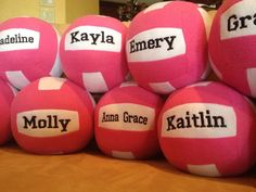 Plush Volleyball Custom Embroidered by VisionsByViktoria on Etsy https://www.etsy.com/listing/197762063/plush-volleyball-custom-embroidered