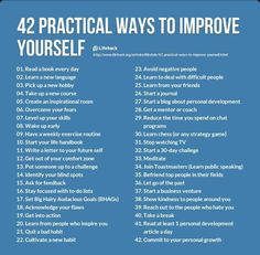 42 practical ways to improve yourself #KUtips Inspirational Thoughts, Self Improvement, Life Hacks, Clean Diet, Motivation, Sayings, Words, Quotes, Jesus Christ